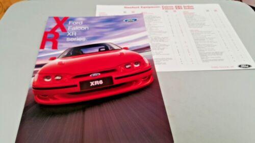 Sept 1996 FORD FALCON XR  Australian Sales Brochure /& Specs Sheet
