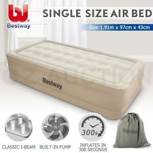 Bestway-Air-Bed-Inflatable-Single-Blow-Up-Mattress-Mat-Pump-Home-Outdoor-Camping