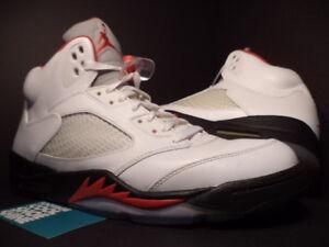 low priced 6363f 437e9 Image is loading Nike-Air-Jordan-V-5-Retro-WHITE-FIRE-