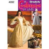 SIMPLICITY SEWING PATTERN Misses 18th Century Costume SIZE 6 - 20 4092