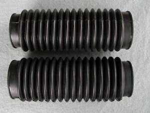 soufflet-fourche-noir-moto-FORK-GAITERS-bobber-classic-vintage-Large-50-58-mm