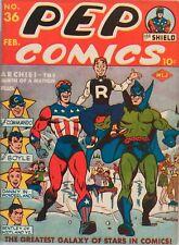 Pep Comics #20 Photocopy Comic Book The Fireball The Hangman The Shield