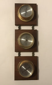 Vintage Springfield Barometer Thermometer Humidity Gauge Weather Station Classic