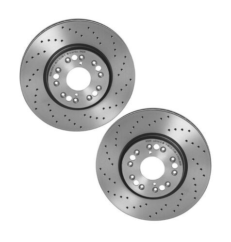 Set 2 Xtra Drilled Front Brake Disc Rotors Coated Brembo for Lexus GS300 SC430