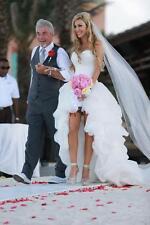High Low Beach Wedding Dresses Short Front Long Back 2016 Vintage Bridal Gown