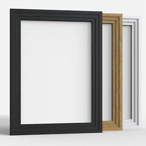 Photo-Frame-Picture-Frames-Step-Style-Black-White-Oak-Large-square-All-Sizes
