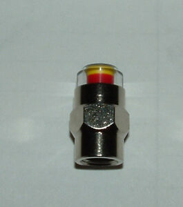 Tire Pressure Monitor Valve Stem Caps - HEX Style - Many PSI - Look!!