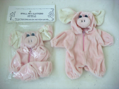 """Bears and Dolls Velour Pig Costume that fits most 6-10/"""" Beanies"""