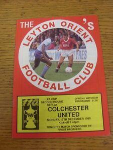 17121990 Leyton Orient v Colchester United FA Cup  Good condition unless pr - Birmingham, United Kingdom - 17121990 Leyton Orient v Colchester United FA Cup  Good condition unless pr - Birmingham, United Kingdom