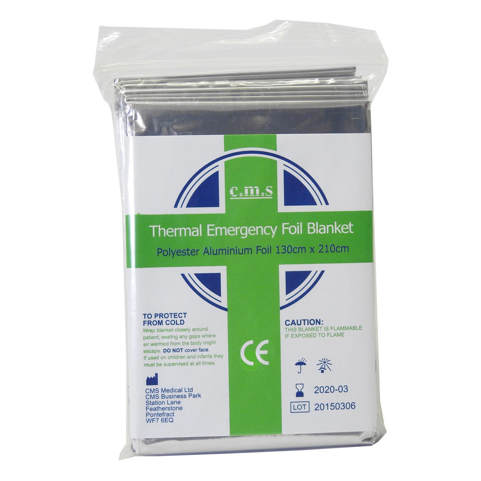 Cms premiers secours médicaux espace d'urgence survie rescue camp thermique thermique thermique foil couvertures b9e7d4