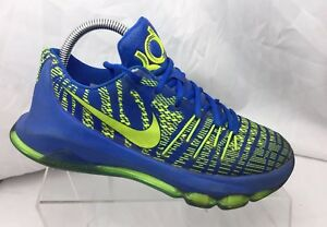 b2b17fe8f72b Nike KD 8 VIII (GS) Kids 768867-400 Hyper Cobalt Volt Sz Athletic ...