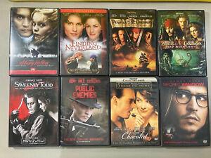 Lot-Of-8-Johnny-Depp-Movies-DVD-Pirates-Disney-Chocolat-Sleepy-Hollow-More