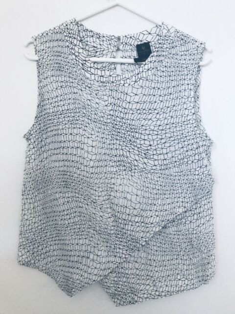 David Lawrence Silk Size 12 Singlet Top