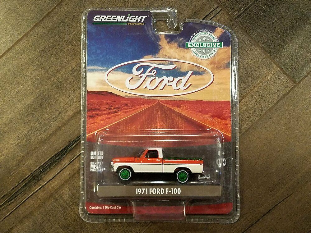 Greenlight 1 64 Hobby Exclusive 1971 1971 1971 Ford F-100 with Bed Cover 29957 Chase Car 707e27