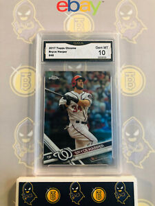 2017-Topps-Chrome-Bryce-Harper-48-10-GEM-MINT-GMA-Graded-Baseball-Card