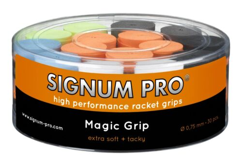 Signum Pro Box of 30 Magic Grip Tennis Badminton Overgrips 0.75mm Mix