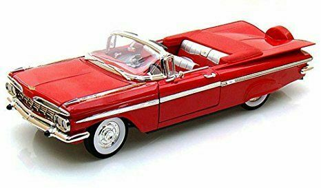 Chevrolet impala converdeible 1959 rosso 1 18 auto stradali scala lucky die