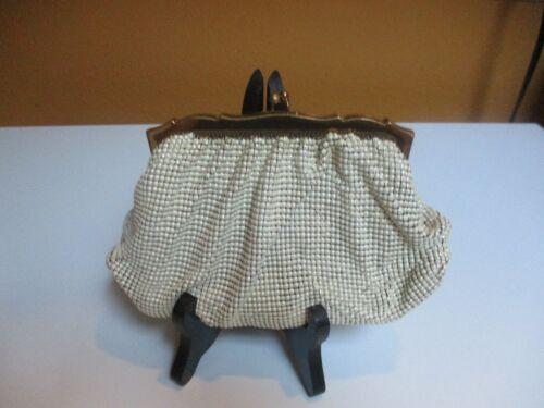 Vintage Whiting & Davis White Mesh Evening Bag Pur
