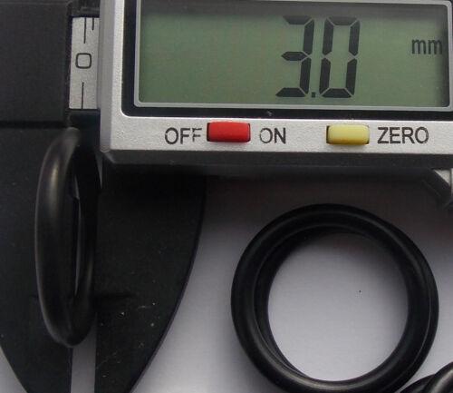 ID de 20mm X 3mm CS sección o Anillo Anillos de caucho de nitrilo 70 métrica Paquete de 1-10
