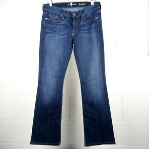 7-For-All-Mankind-Bootcut-Jeans-Women-Size-29-Blue-Stretch