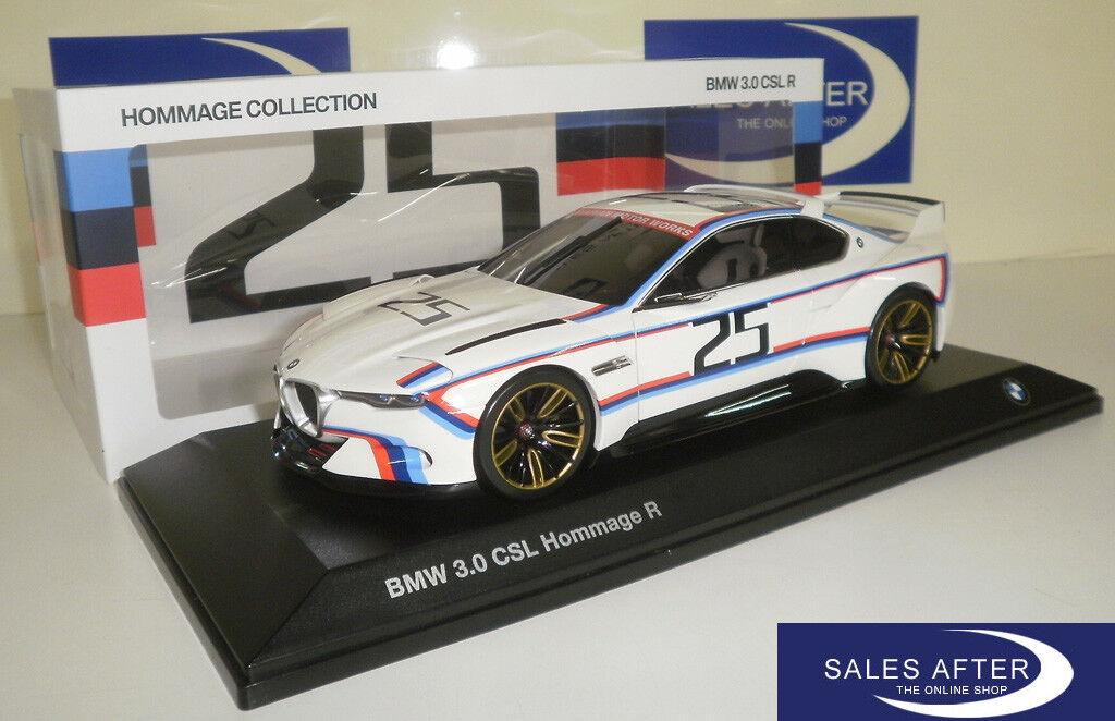 Original BMW Miniature 3.0 CSL R hommage Collection 1:18 3.0csl voiture miniature NOREV | Premiers Clients