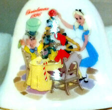 CHRISTMAS WONDERLAND (Alice) Disney Grolier Ceramic Porcelain BELL Ornament 1996