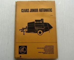 Claas-Junior-Automatic-Maehdrescher-Ersatzteilliste-Ersatzteilkatalog-01-1966