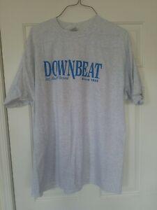 Vintage Charles Mingus Downbeat Magazine Mens XXL Grey T-shirt