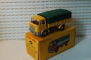 ref 584  au 1//43 de dinky toys atlas Camion Berliet GAK baché Jaune