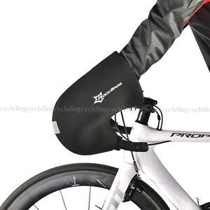 RockBros Road Bike Winter Gloves Handlebar Mittens Hand Warmers Covers Black