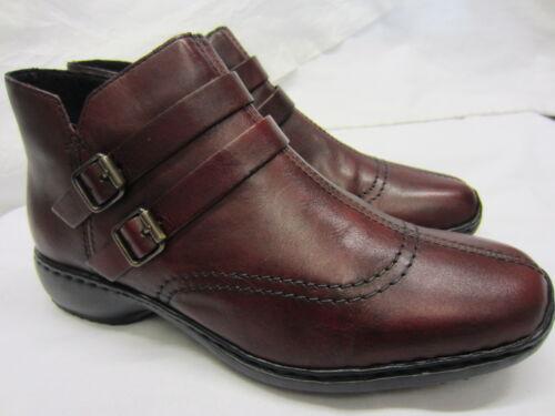 Rieker /'L3850-35/' Ladies Dark Red Leather Lightweight Ankle Boots