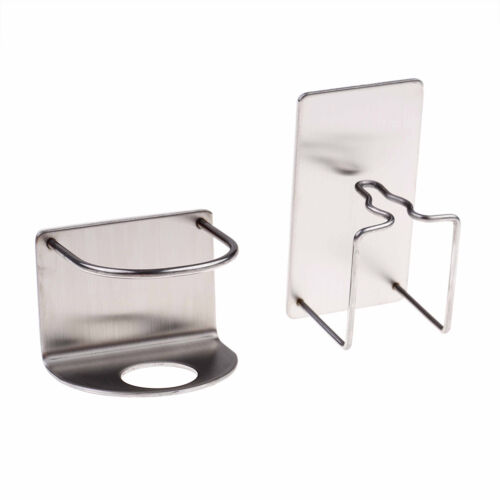 1pc Bathroom Wall Mounted Stainless Steel Toothbrush Hook Toothpaste Holder VE