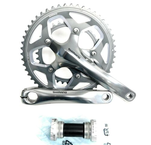 Shimano RS-500 11-Speed Mid-Compact Road Double Crankset 52-36t 170 mm New w// BB