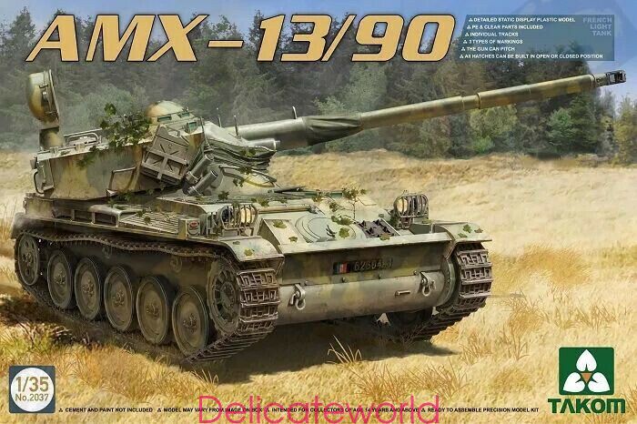 Takom 2037 1 35 French Light Tank AMX-13 90