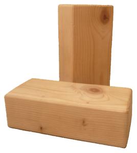 Lot de 2 briques de yoga en bois