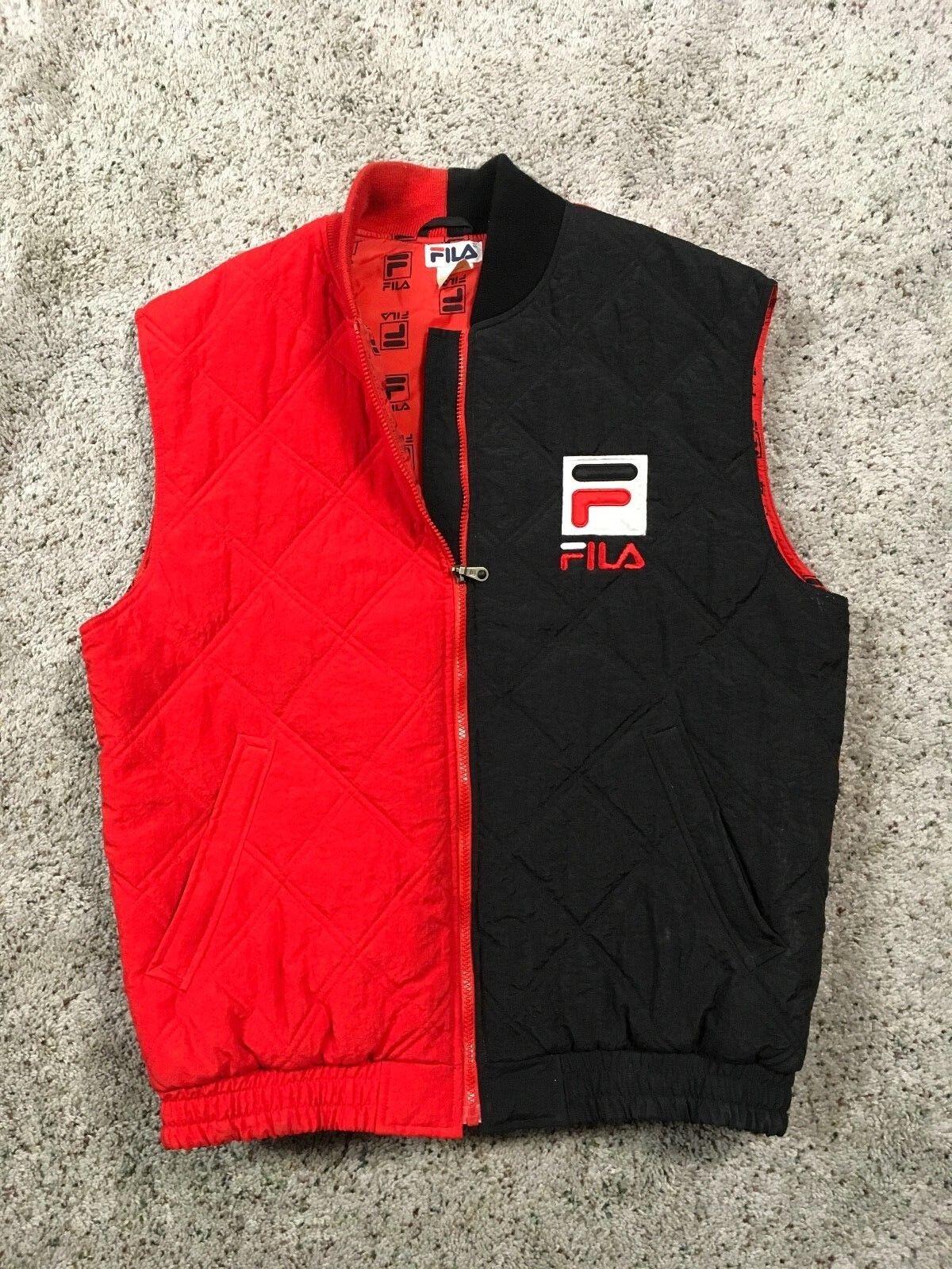 Fila Vintage Big Logo Vest Large
