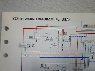 Yamaha Color Wiring Diagram Schematic (For USA) YZF-R1 #H ...
