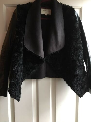 Leather And Island Jacket River Fur Size 6 coat Uk Faux qtACCw