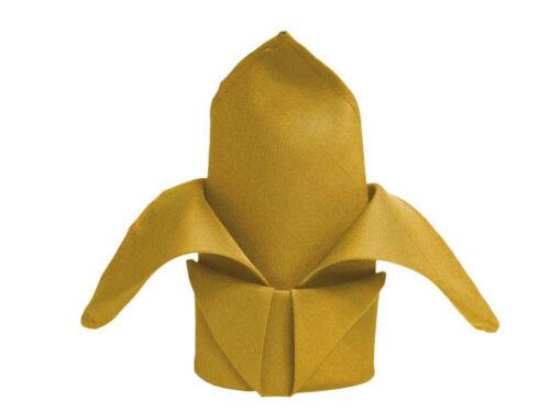 24 gold restaurant dinner cloth wedding linen napkins 20x20 premium