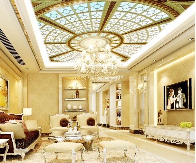 3D Palace Roof Ceiling WallPaper Murals Wall Print Decal Deco AJ WALLPAPER GB