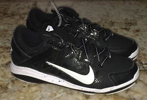 NIKE Air HyperDiamond Pro Metal Spikes Black Wh Softball Cleats ... ce99c60d54