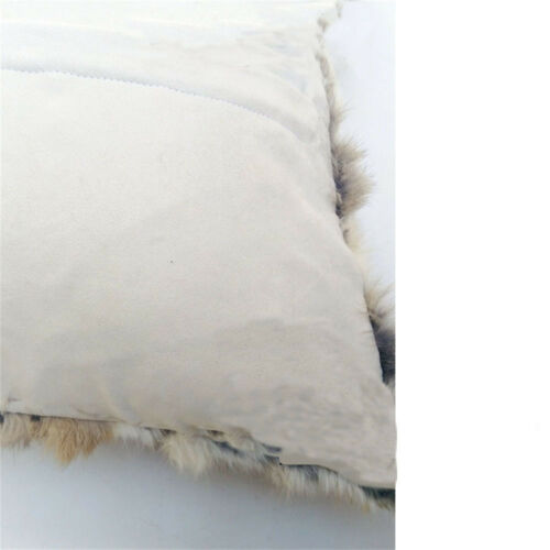 """100/% REAL RABBIT FUR PROTECTOR PILLOWCASE COVER Pillow SECTIONS CUSHION 20""""x 54"""""""