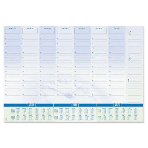 SIGEL Schreibtischunterlage Time 30 Blatt blau//grün 59,5 x 41,0 cm