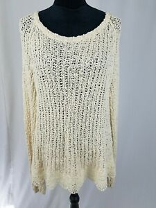 Anthro-knitted-amp-knotted-women-XL-open-knit-long-sleeve-crochet-sweater-lace