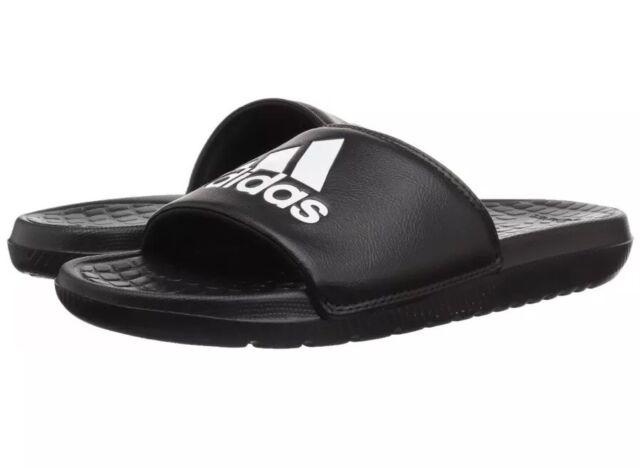 info for 810a1 738a2 Adidas Mens Voloomix Slide Sandal BlackWhiteBlack Size 12 D(M)
