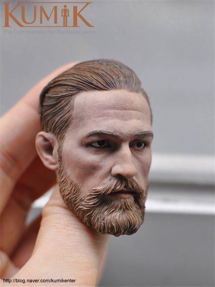 KUMIK 1/6 KM16-91 Europe Male Head Sculpt Man Head Model 12'' Figure Accessories