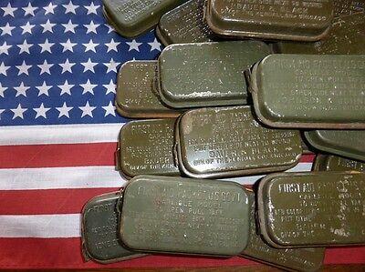 Airborne USA Paratrooper pansement boite métal rouge US WW2 FIRST AID PACKET