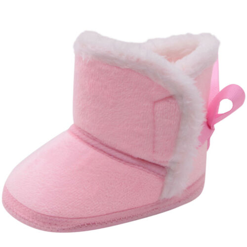 Baby Girl Boy Snow Boot Winter Bootie Infant Toddler Newborn Crib Shoes 0-14M FS