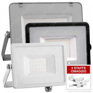 FARO LED V-Tac Faretto Sottile 10W 20 30 50W 100W Esterno Ultra Slim SMD Samsung