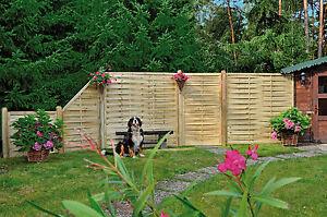 8 X Lamellenzaun Florida 180x180 Cm Sichtschutzzaun Gartenzaun Zaun